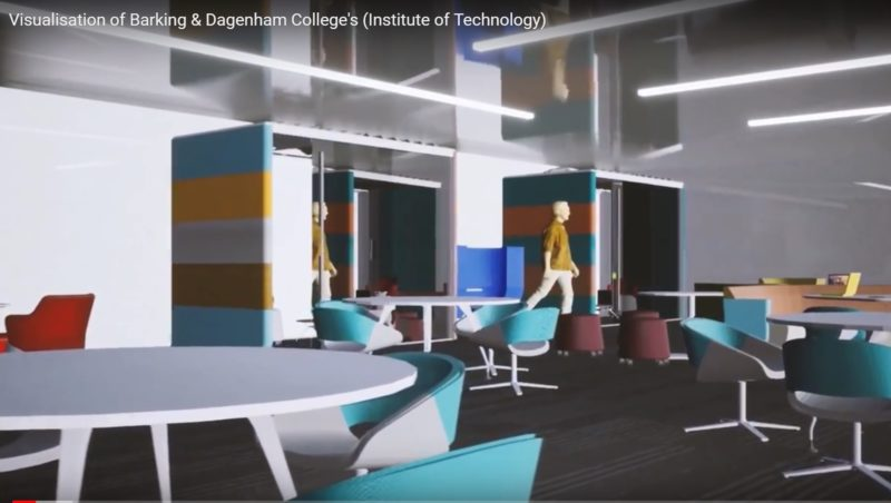 A screenshot of the Visualisation of Barking Dagenham Colleges Institute of Technology created by students